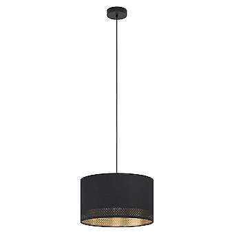 Eglo Esteperra 380mm hänge i svart och guld