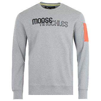 Moose Knuckles Transit Crew Neck Sweatshirt - Charcoal Melange