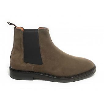 Men's Ambitious 8886 Taupe U21am21 Leather Beatles Ankle Boot
