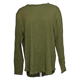 All Worthy Hunter McGrady Women's Top Long-Sleeve Tee Shirt Green A384588