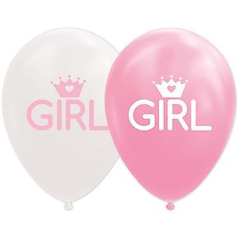 Babyshower Baby Girl ballonger 8-pack