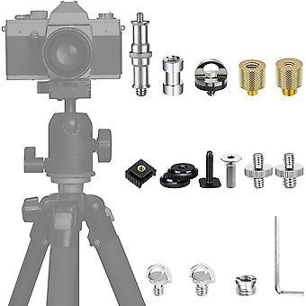 HanFei 38 Stück Kamera Schraube, 1/4 auf 3/8 Zoll Schrauben Konverter Adapter für Kamera,