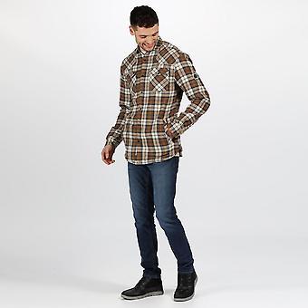 Regatta Mens Tavior Fleece Kontrolleras Långärmad skjorta