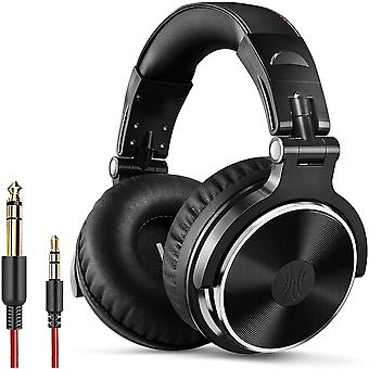 DZK Over Ear Headphone Studio Wired Bass Headsets with 50mm Driver, Foldable Lightweight Headphones