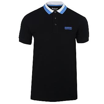 Barbour international mens black ampere polo shirt