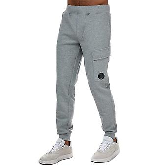 C.p. company men's grey diagonal fleece lens jog pants