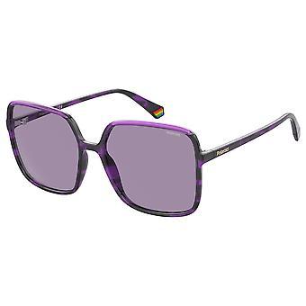 Polaroid PLD6128/S AY0/KL Havana Avio/Violet Polarised Sunglasses