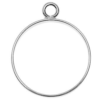 Pendentif open back bezel, Circle 25x30.5mm, 1 pièce, argent, par Nunn Design