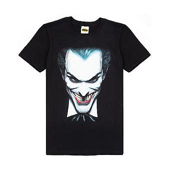 The Joker Clown Face Men's Black Short Sleeve Casual T-Shirt