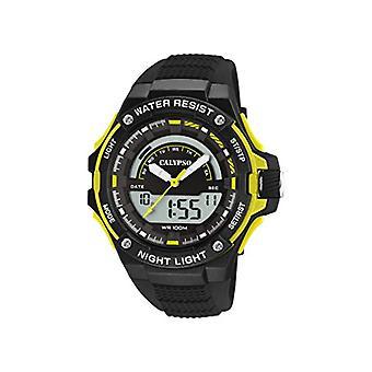 Calypso kellot analoginen-digitaalinen katsella kvartsi mies muovihihna K5768/1