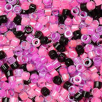 Miyuki Delica Seed Beads, Tamaño 11/0, Tubo de 7.2 Gram, #MIX9096 Sunset Glow Mix