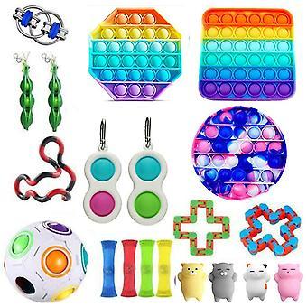 Sensorische Fidget Toys Set Bubble Pop Stress Relief voor kinderen Volwassenen Z491