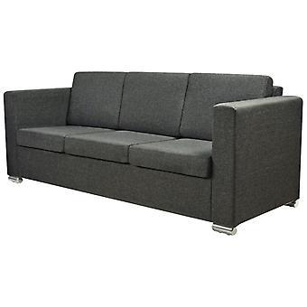 vidaXL sofá de 3 plazas tejido gris oscuro
