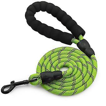 M correa verde para mascotas, nylon reflectante escalada en roca de cuerda redonda correa de perro, correa de perro az5010