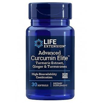 Life Extension Advanced Curcumin Elite Turmeric Extract Ginger & Turmerones Softgels 30