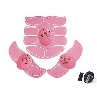 القابلة لإعادة الشحن الوردي ABS محفز البطن حزام تدريب العضلات، ems مدرب حزام اللياقة البدنية az15455