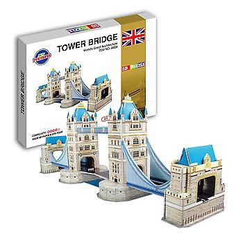 Educational 3d model puzzle jigsaw london tower bridge diy toy dt44