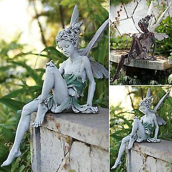 Tudor en Turek zitten fairy standbeeld tuin ornament
