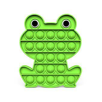 Stuff Certified® Pop It - Fidget Anti Stress Toy Bubble Toy Silicone Frog Green