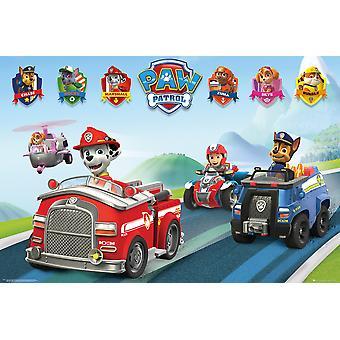 Paw Patrol Pojazdy Maxi Plakat