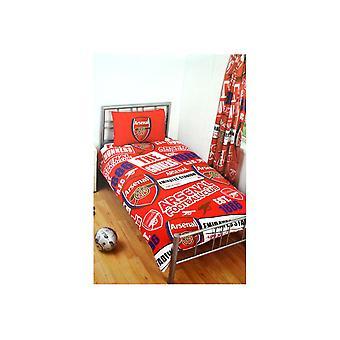 Arsenal Patch einzelne Bettdecke und Kissenbezug Set