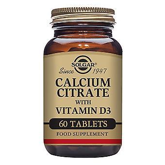 Calcium Citrate with Vitamin D3 Solgar 1000 mg