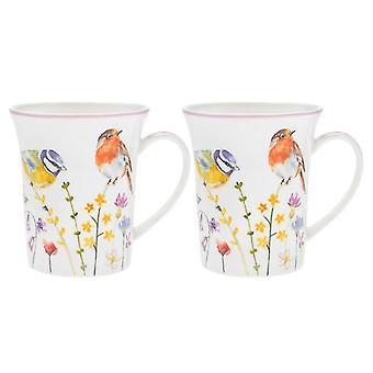 Garden Birds Mugs (Set of 2)