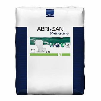 Abena المثانة التحكم وسادة Abri-سان بريميوم 17 بوصة طول معتدل امتصاص زغب / البوليمر الأساسية المستوى 4, 28 أكياس