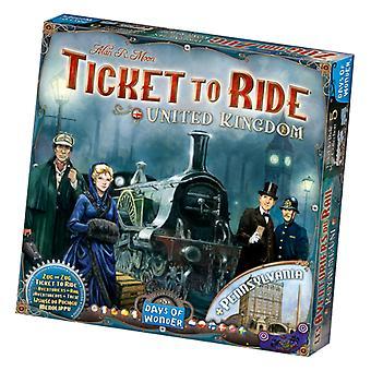 Ticket To Ride United Kingdom + Pennsylvania Board Game