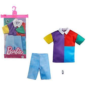 Barbie Ken Färg Block Mode, Mode Set Polo Shirt, Jeans Shorts