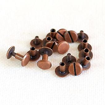 new 4mm red bronze metal screws for spiral binder clip loose leaf binders sm62558