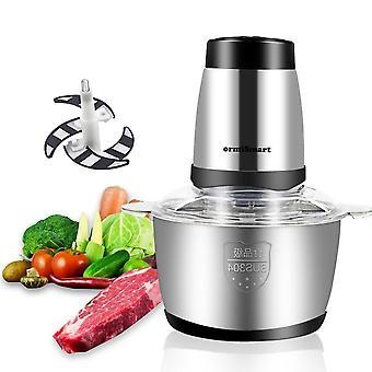 2 Speeds 2l Electric Meat Chopper, Vegetable Grinder, Mincer Food Processor &