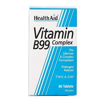 כרטיסיות שחרור ממושך של ויטמין B99 של HealthAid 60 (801030)