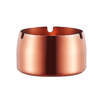 Round Durable Protable Ash Tray Stainless Steel High Temperature Resistant Coverless Ashtrays