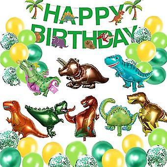 Dinosaurier Kindergeburtstag Dekoration, Happy Birthday Banner, Dinosaurier Luftballons, Konfetti