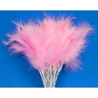 36 Rosa 28cm Fjäder Spray Picks för Floristry & Hantverk