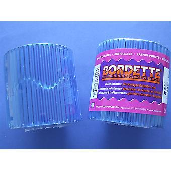 Blue 7.5m Metallic Corrugated Card Bordette Classroom Border Display Rolls
