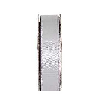 SISTA NÅGRA - 3m Mjukt Silver 10mm Brett Satin Craft Ribbon