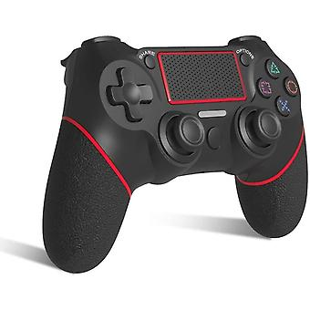 [2021 Edition] Chronus T Replacement for PS-4 Controller, Wireless Controller for Ps-4/Pro/3/Slim/PC, Touch Panel Gamepad with Dual Vibration and Audio Function, LED Indicator USB Cable(Red)