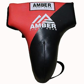 Amber MMA Mens Boxing Groin Guard Cup Jock Strap Abdo Protector Red/Black