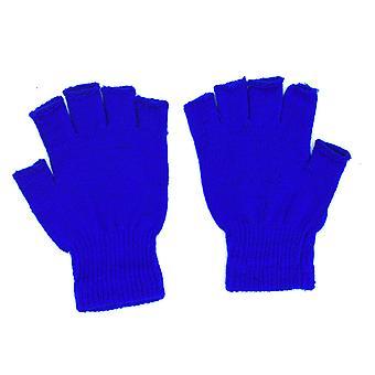 Blåa fingerlösa vantar one size