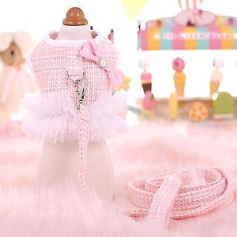 Lemmikki valjaat Chihuahua Teddy Yorkshire Koirat Talutushihna Pentu Vaatteet Tweed Liivi Johtaa Pitsi Koira