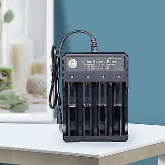 Battery Charger 18650 Lithium-Ion Rechargeable Battery Charger 4 Slot