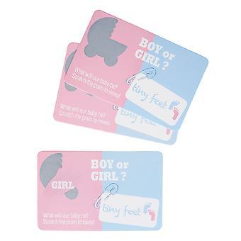 Tiny Feet Gender Reveal Scratch Cards - Girl