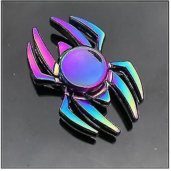 Spinning tops anti stress fidget rainbow modern futuristic metal finger spinner q30