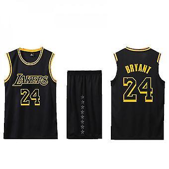 Basketball Jersey No.24/lakers Jersey Set/black Away(child Size)