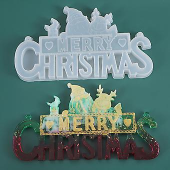 God jul silikon mold casting harpiks epoksy håndverk mugg dekor