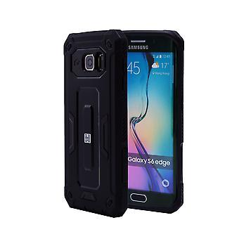 32nd hårt Defender case för Samsung Galaxy S6 Edge (SM-G925) - svart