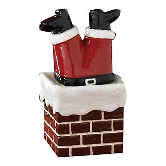 Santa Stuck Climbing Down Chimney Home for Holidays Salt and Pepper Shaker Set