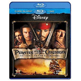 Pirater Caribbean-förbannelse av Black Pearl [BLU-RAY] USA import